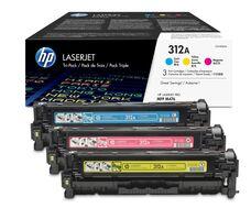 Eredeti HP 312A színes kit (CF440AM 1-1db ciánkék, magenta és sárga toner)