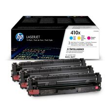 Eredeti HP 410X színes kit (CF252XM 1-1db ciánkék, magenta és sárga toner)