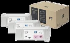 Eredeti HP 81 világos magenta 3-as csomag (C5071A)