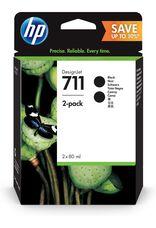 Eredeti HP 711 fekete dupla csomag (P2V31A)