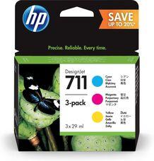 Eredeti HP 711 multipack - 1-1db ciánkék, magenta, sárga patron (P2V32A)