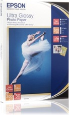Epson Ultra Glossy Photo Paper, 130 X 180 mm, 300g, 50 lap