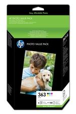 Eredeti HP 363 színes csomag + fotópapír (Q7966EE)