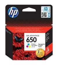 Eredeti HP 650 színes patron (CZ102AE)