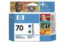 Eredeti HP 70 kék és zöld nyomtatófej (C9408A)