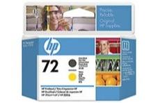 Eredeti HP 72 matt fekete és sárga nyomtatófej (C9384A)