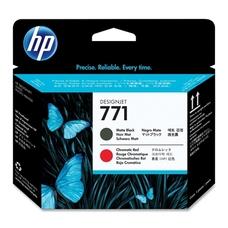 Eredeti HP 771 matt fekete és chromatic red nyomtatófej (CE017A)
