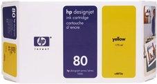 Eredeti HP 80 sárga patron (C4873A)