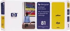 Eredeti HP 81 sárga nyomtatófej (C4953A)