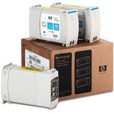 Eredeti HP 90 nagy kapacitású ciánkék 3-as csomag (C5083A)