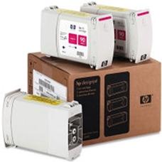 Eredeti HP 90 nagy kapacitású magenta 3-as csomag (C5084A)