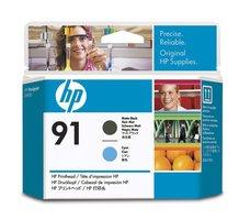 Eredeti HP 91 matt fekete és ciánkék nyomtatófej (C9460A)