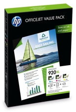 Eredeti HP 920XL színes csomag + fotópapír (CH081AE)