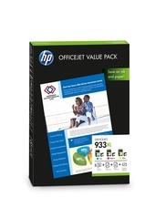Eredeti HP 933XL színes csomag + fotópapír (CR711AE)