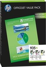 Eredeti HP 935XL színes csomag + papír (F6U78AE)