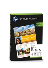 Eredeti HP 951XL színes csomag + fotópapír (CR712AE)