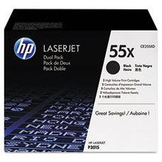 HP CE255XD dupla nagy kapacitású fekete toner (2db 55X)
