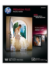 HP CR676A Premium Plus fotópapír, fényes, 13 x 18cm, 20 lap,