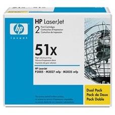 HP Q7551XD dupla nagy kapacitású fekete toner (2db 51X)