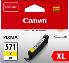 Eredeti Canon CLI-571Y sárga patron