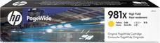 Eredeti HP 981X nagy kapacitású sárga PageWide patron (L0R11A)