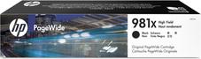 Eredeti HP 981X nagy kapacitású fekete PageWide patron (L0R12A)