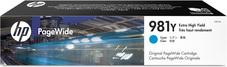 Eredeti HP 981Y extra nagy kapacitású ciánkék PageWide patron (L0R13A)