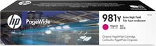 Eredeti HP 981Y extra nagy kapacitású magenta PageWide patron (L0R14A)