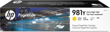 Eredeti HP 981Y extra nagy kapacitású sárga PageWide patron (L0R15A)