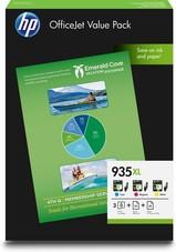 Eredeti HP 953XL Value Pack 1-1db 953XL nagy kapacitású ciánkék, magenta és sárga patron A4-es papírral (1CC21AE)