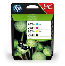 Eredeti HP 903XL Multipack 1-1 db HP 903XL nagy kapacitású fekete, ciánkék, magenta és sárga patron (3HZ51AE)