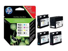 Eredeti HP 932XL / HP 933XL Multipack 1-1 db nagy kapacitású fekete, ciánkék, magenta és sárga patron (C2P42AE)