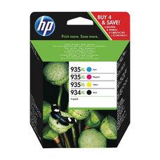 Eredeti HP 934XL / HP 935XL  Multipack 1-1 db nagy kapacitású fekete, ciánkék, magenta és sárga patron (X4E14AE)