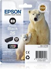 Eredeti Epson 26 foto fekete patron