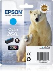 Eredeti Epson 26 XL ciánkék patron