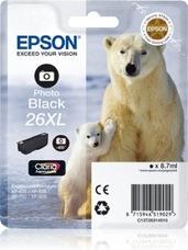 Eredeti Epson 26 XL foto fekete patron