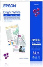 Epson Bright White Inkjet Paper, A4, 90g, 500 lap