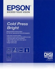 Epson Cold Press Bright Paper, 60col X 15m, 340g, tekercs
