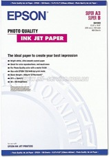 Epson Photo Quality Inkjet Paper, A3+, 104g, 100 lap