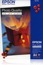 Epson Photo Quality Inkjet Paper, A4, 102g, 100 lap