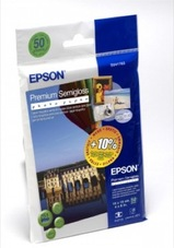 Epson Premium Semigloss Photo Paper, 10 X 15cm, 251g, 50 lap