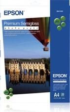 Epson Premium Semigloss Photo Paper, A4, 251g, 20 lap