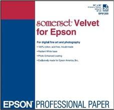 Epson Somerset Velvet Fine Art Paper, 24col X 30col, 505g, 2