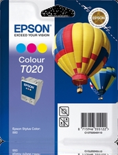 Eredeti Epson T020 színes patron