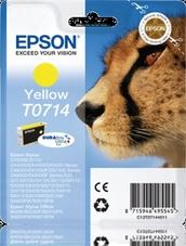 Eredeti Epson T0714 sárga patron