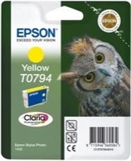 Eredeti Epson T0794 sárga patron