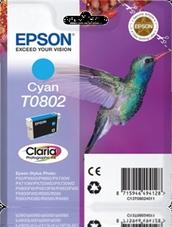 Eredeti Epson T0802 ciánkék patron