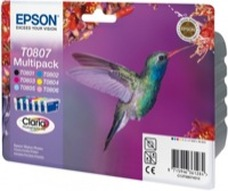 Eredeti Epson T0807 multipack (hat színű)
