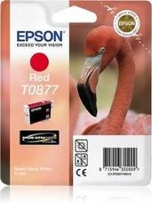 Eredeti Epson T0877 piros patron