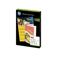 Eredeti HP 963 színes csomag (3 színű patron + papír)